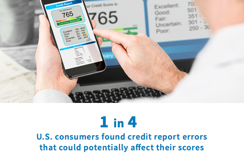 errors on credit report