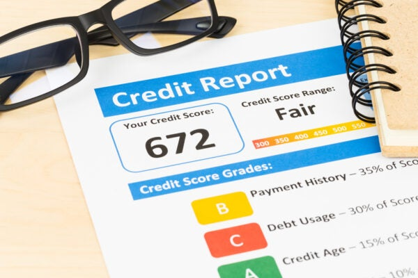 negative items on credit report