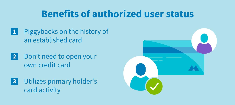 Benefits of authorized user status