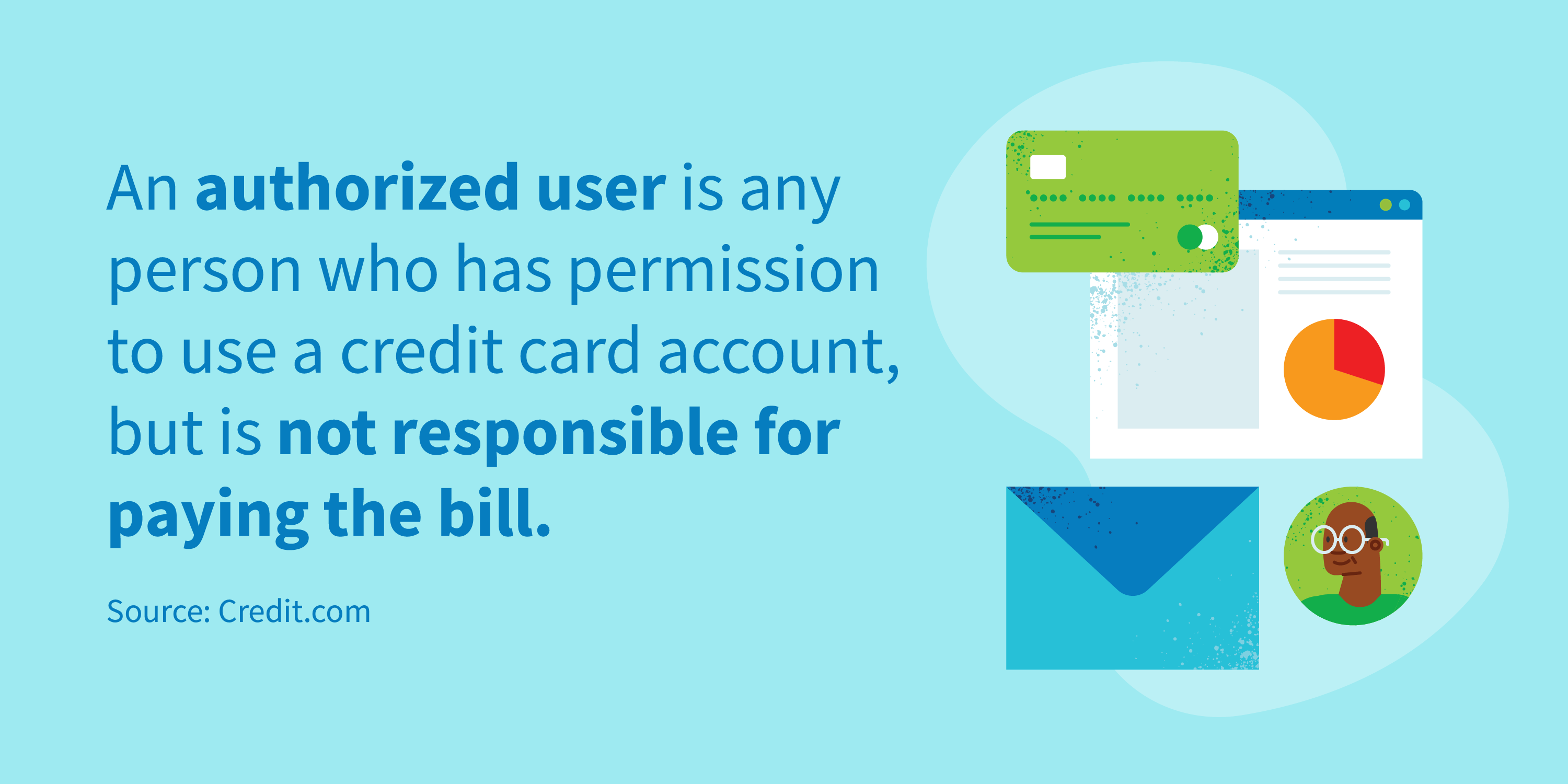 An authorized user is any person who has permission to use a credit card account, but is not responsible for paying the bill.